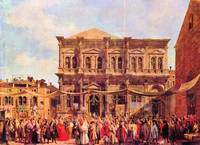 Festival in San Rocco by Canaletto