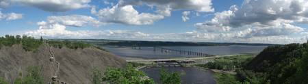 Saint Lawrence river from atop Montmorency Falls
