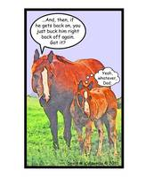 Horse Sense - Greeting Card
