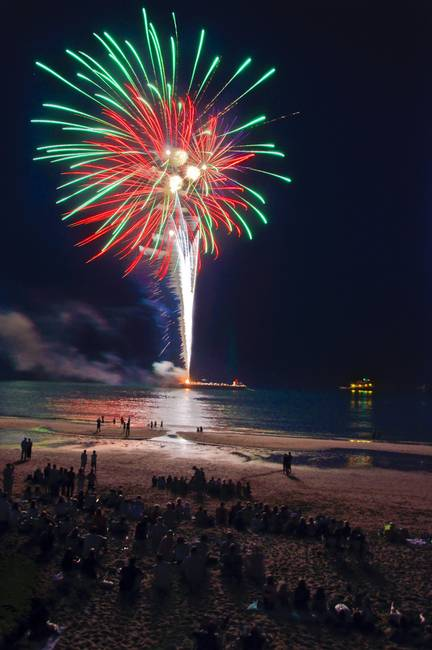 Singing Beach Fireworks