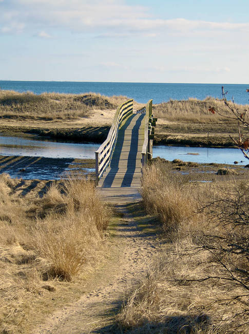 Ridgevale Beach Bridge with Path