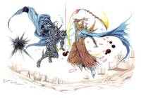 Final Fantasy Series - dissidia golbez and exdeath