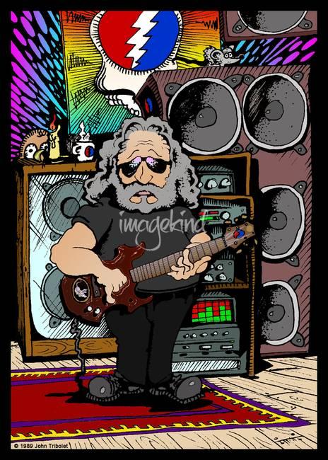 Jerry Garcia Cartoon By John Tribolet