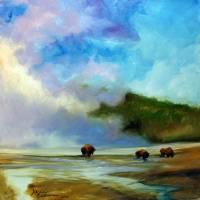 YELLOWSTONE BUFFALO by Marcia Baldwin