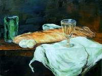Still Life of Bread & Eggs