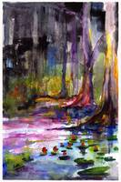 Cypress Gardens South Carolina Watercolor
