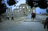 Temple of Aphaia, Aegina, Spring Evening 2003 12 by Priscilla Turner