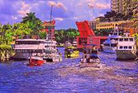 Boats On The River, Fort Lauderdale, Florida