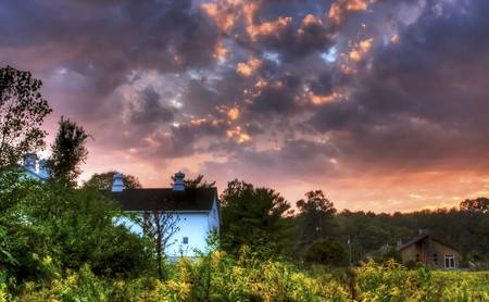 Sunset Sky on Autumn Equinox by Jim Crotty by Jim Crotty