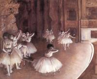 Edgar Degas Ballet Rehearsal On The Stage