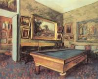 Edgar Degas Billiard Room