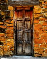 Old mission door