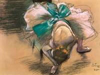 Edgar Degas Dancer Tying Her Shoe Ribbons