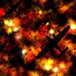 """Night Raid - Lancaster Bomber"" by ModernArtPrints"