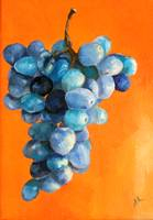 Grapes On Orange
