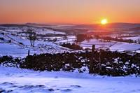 Winter sunset near Kendal, Cumbria