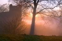 Misty Sunset - Kendal Castle, Cumbria