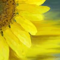 Sunflower Essence Art Prints & Posters by DEBORAH Rosier