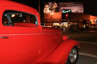 Hot Rod gleaming in the streetlight