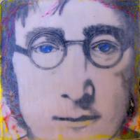 John Lennon Encaustic No. 1