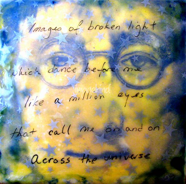 John Lennon Encaustic No 2 Across The Universe by Victor McGhee