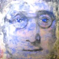 John Lennon Encaustic No 4 Clouds