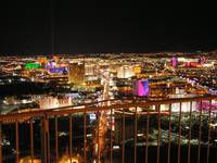 Aerial View of Las Vegas at Night from the Top of