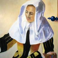 Woman with a Water Pitcher - after Vermeer Art Prints & Posters by Victor McGhee