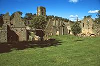 Fountains Abbey in Summer 2 by Priscilla Turner