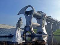 Falkirk wheel and one of the Kelpies