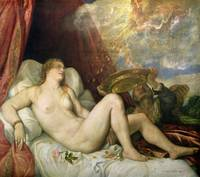 Danae, c.1554 (oil on canvas) by Titian