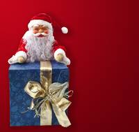 Santa Claus sitting on a parcel 3