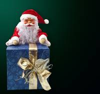 Santa Claus sitting and gift