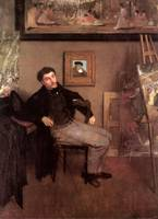 Edgar Degas Portrait of James Tissot