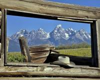 Window on the Grand Tetons