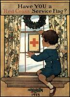 Jessie Willcox Smith Red Cross Service Flag