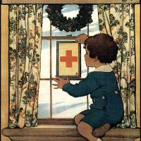 """Jessie Willcox Smith Red Cross Service Flag"" by oldies"