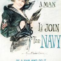 """""""Howard Chandler Christy Join The Navy"""" by oldies"""