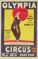 Bertram Mills circus poster, 1922 (colour litho)