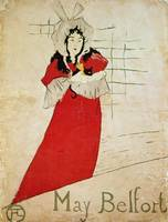 May Belfort, France, 1895 by Toulouse-Lautrec