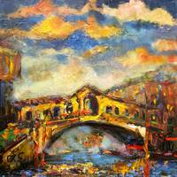 Rialto Bridge Oil Painting by GInette Callaway