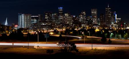 Denver Midnight Skyline