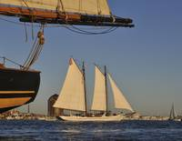 Schooner AJ Meerwald sailing Baltimore Harbor