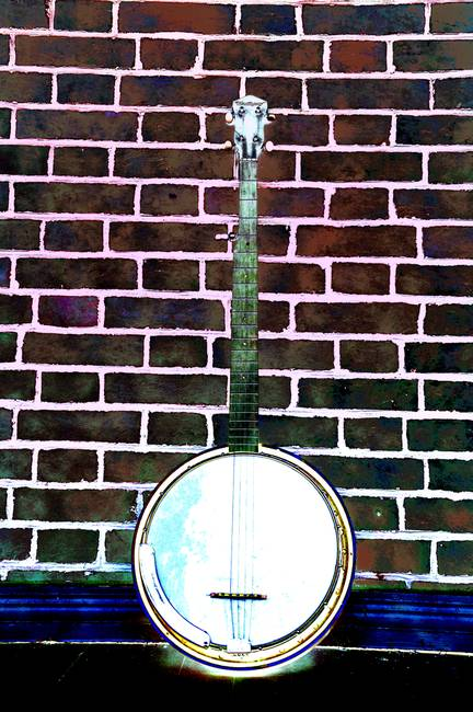 Banjo on a Red Brick Wall