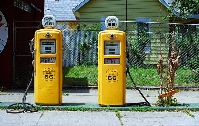 Route 66 - Illinois Gas Pumps