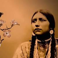 Lakota Woman and Raven by I.M. Spadecaller