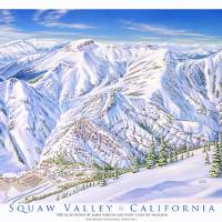 """Squaw Valley"" by jamesniehuesmaps"