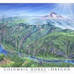 """Columbia Gorge"" by jamesniehuesmaps"