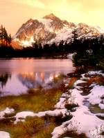 Early snow on Mount Shuksan