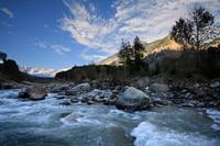 River Beas : A view from Manali town.